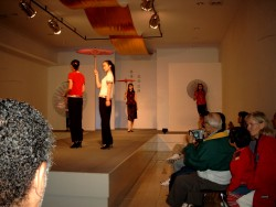 Fashion show with a very interested Yanmei (right)