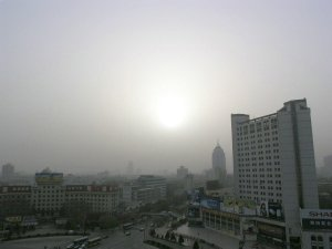 View from the window before the sum manages to break through the smog!