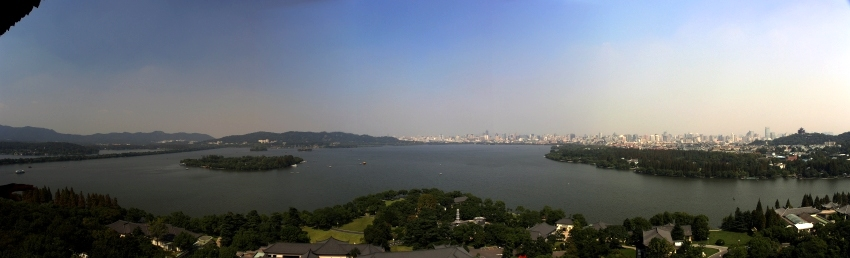 View over West Lake and Hangzou from the Leifeng Pagaoda