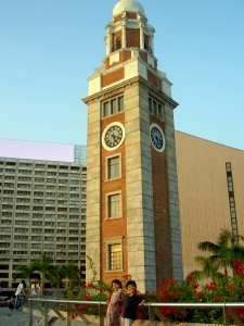 The clock tower on the sea front